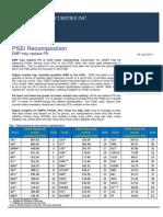 Wealth Research Index Rebalancing