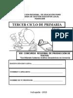 EXAMEN CONCURSO DE PRODUCCION DE TEXTOS