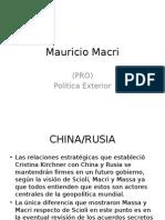 Mauricio Macri Politica Exterior