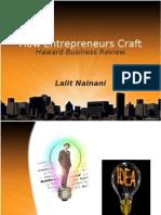 How Entrepreneurs Craft(HBR)(Lalit Nainani)