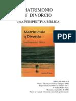 Matrimonio y Divorcio Una Perspectiva Biblica a.p.nunn