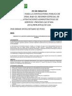 FE DE ERRATAS PROCESO CAS N°006-2015-MPH-HVCA-CE-CAS - CONVOCATORIA PARA LA CONTRATACION ADMINISTRATIVA