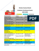 Onslow County Schools 2015-2016 Academic Enrichment Events