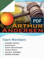 Aurther anderson Involvement in Enron scam