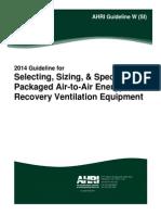 AHRI Guideline W (SI)-2014