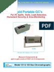 Model 122 Field Portable GC's For IH, Spills, Soils, Leak Detection,  Homeland Security & Area Monitoring