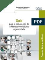 Guía Para La Elaboración de La Planeación Didáctica Argumentada