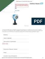 Radar measurement - Micropilot FMR244 _ Endress+Hauser