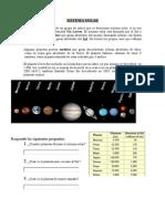 Sistema Solar (ficha para trabajar en clase)