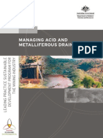 MANAGING ACID Mine Drainage