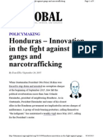 Honduras - Innvation in the Fight Against Narcotrafficking - R Evan Ellis