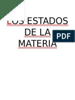 Los Estados de La Materia _ 6to Básico