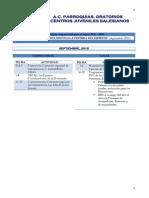 Calendario Actividades SDB 2015 - 2016