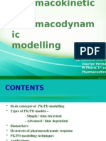 PKPD Pharmacokinetics and Pharmacodynamic Modelling