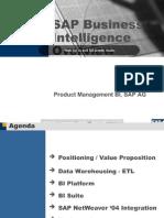 SAP Business Intelligence Overview Presentation