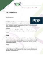 Carta Presentación Clinica Metropolitana