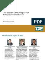 BCG Findings Recommendations/ Hallazgos y recomendaciones escuelas 12Nov2014 Espanol