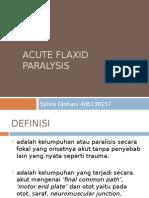 Acute Flaxid Paralysis Ppt