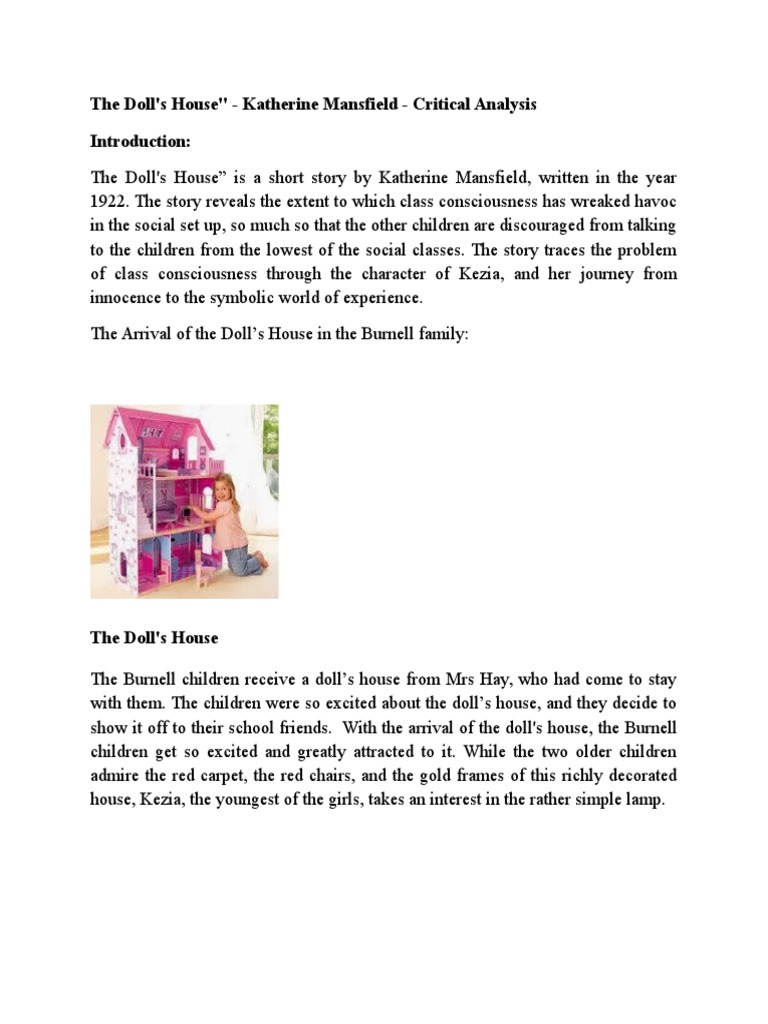 the dolls house katherine mansfield essay