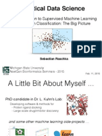 An Introduction to Supervised Machine Learning and Pattern Classification - The Big Picture