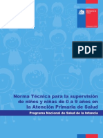Norma Técnica Para La Supervisión de Niños y Niñas de 0 a 9 en APS