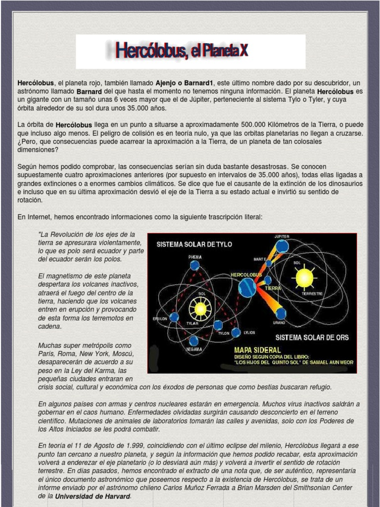 Hercólobus El Planeta X | Earth | Sun