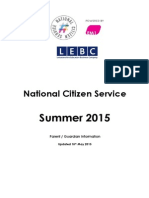 NCS PG Briefing - Summer 2015