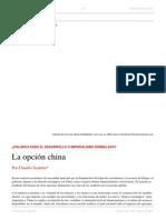 Claudio Scaletta. La Opción China. El Dipló. Edición Nro 189. Marzo de 2015