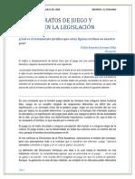 Los Contratos de Juego y Apuesta en La Legislación