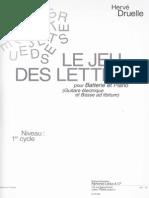 Le Jeu Des Lettres (H. Druelle)