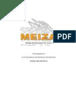 Mei-sga-pp-01 Plan de Manejo de Residuos Peligrosos