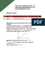 45491369 Definicion de Un Vector en R2 R3 Interpretacion Geometrica y Su Generalizacion en Rn