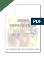 NORMA TÉCNICA SERVICIO DE ALIMENTACIÓN Y NUTRICIÓN- MARZO 2004