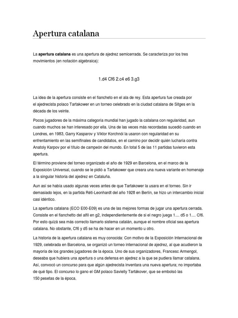 Apertura Catalana