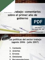 Balance primer año de gobierno de Alan Garcia