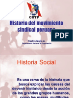 Historia Del Movimiento Sindical Peruano CMA. Ppt.