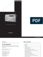 Grundig E100 Shortwave Radio Manual