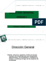 Unidad I Direccion Gral Power point