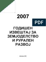 Godisen Izvestaj Za Zemjodelstvo i Ruralen Razvoj-2007