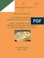1. HACCP Pechuga de Pollo en Trozos Trozos de Pollo Version Abril 2015 II....... Corregido