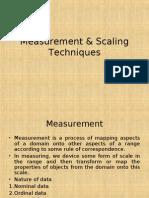Measurement & Scaling Techniques