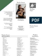 Wedding Ceremony Music Brochure