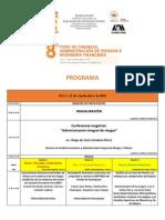 Programa 8o. Foro de Finanzas, Administración de Riesgos e Ingeniería Financiera