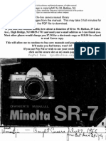 Minolta Sr 7 instruction manual
