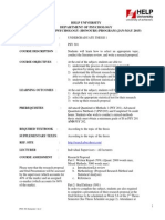 PSY301 Course Outline Undergraduate Thesis 1 JAN-MAY 2015