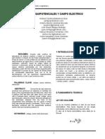 Informe 2 Lineas Equipotenciales y Campo Electrico