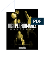 The High Performance Handbook by Eric Cressey