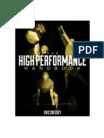 The High Performance Handbook by Eric Cressey