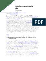 Ley de Defensa Permanente Del a Democracia