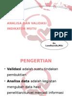 Analisa Dan Validasi Indikator Mutu [Autosaved]